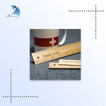 Hot selling good quality printing school wooden ruler for promotion