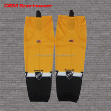Black and yellow 2015 new sublimated ice hockey socks for selling