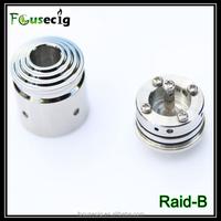 2014 stainless steel rebuildable atomizer Raid-B disposable e cigarette wholesale