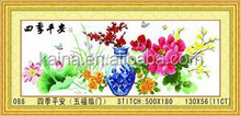 FLOWER NWE FABRIC CROSS STITCH SCHEMES