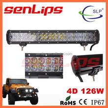 SCLIGHTS/SENLIPS super brightness 4D led auto light bar 126w 4x4 4d led light bar for off-road folklift driving lamp