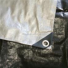 Silver black heavy duty Poly Tarp , Tarpaulin paper backpack