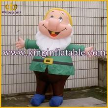 Popular Cheap Inflatable Dwarf Cartoon Walking Custome For Kids
