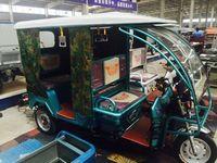Electric Passenger Tuktuk Tricycle for india market /China bajaj rickshaw/pedicab/trishaw
