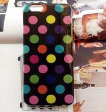 Newest Fashion Polka Dot Flex Gel TPU Skin case for iphone 6