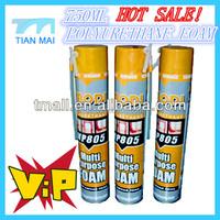 750ml Pu Foam,polyurethane foam caulking agent