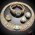 mejor disfraz 22k joyas de oro engastado/moda boda agradable joyería africana