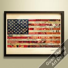 Guansheng CE006 flag canvas wall art art reproduction