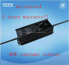 waterproof 60W traic dimming constant current power supply with GE ROSH SAA