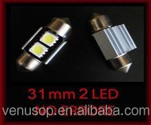 Canbus 12V 31mm 2SMD 5050 LED Car Light Bulb Error Free Festoon Light