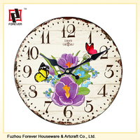 Classic design quartz home decoration glass wall clock