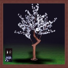 high simulation outdoor new design waterproof white led cherry blossom tree light for christmas holiday