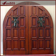 2014 New product models for exterior wood doors wrought iron doors entry