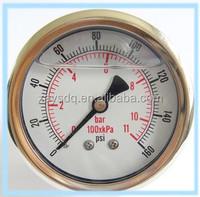 Bourdon tube wise pressure gauge with brass internals