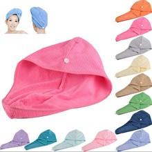 Microfiber Hair Drying Towel for Lady/Women Magic Drying Turban Wrap Towel Spa Salon Towels Bathroom