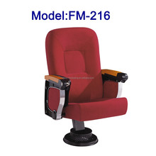 No.FM-216 Red color lecture hall chair with table