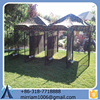 Baochuan powder coating beautiful folding outdoor large dog kennel/pet house/dog cage/run/carrier