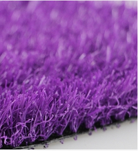 25mm PE monofilament+PP curly purple artificial grass for decoration