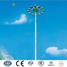 Steel street square landscaped light monopole high mast pole lighting mast 18m to 55m