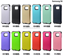 China supplier 2 in 1 combo mobile phone case for Samsung S6