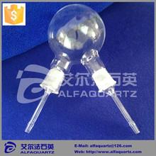 Chemistry laboratory glassware quartz reactor heating resistant two necks round bottom quartz glass flask lab flask 50 to 5000ml