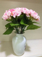 real touch artificial flowers fabric cheap hydrangea for wedding Decoration Table Centerpiece