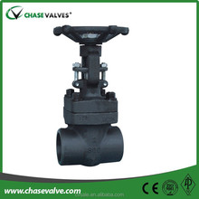 Chain wheel forged gate valve have handles standing