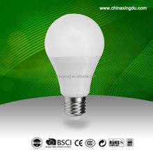 7W 9W 12W global led light bulb plastic coated with aluminum With light angle 270
