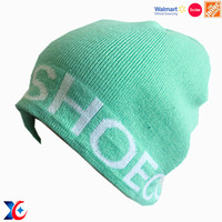 The Home Depot factory custom patch knitted beanie hat with tassel