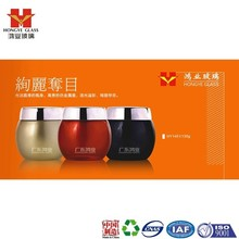Luxury Packaging golden/red/black color empty cosmetic sets facial mask big glass jar HY1451