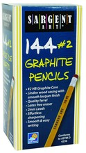Sargent Art 22-7244 144 Count Graphite Pencil with Eraser