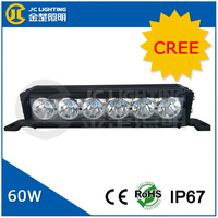 12inch IP67 6PCS X 10W CREE Single Row 5100lm 60W CREE LED Working Offroad Driving Light Bar 12V24V Auto Truck Car 4X4