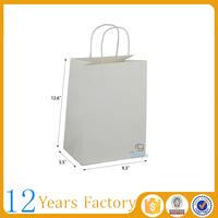 white kraft greaseproof paper bag for food