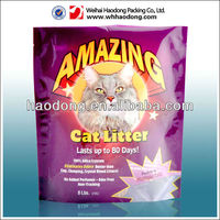 laminated cat litter plastic packaging bag with see through window