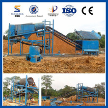 Alluvial Gold Mining Operations with Washing Equipment