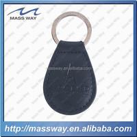 souvenir car brand custom engrved logo black genuine leather keychain