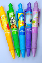 Colorful school stationery pens with heat transfer printing technology /best promo pens with 3D logo/ best promo pens