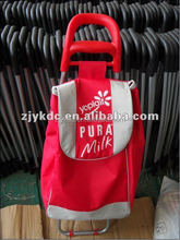 Hot promotion cheap design foldable shopping trolley,shopping cart with ABS handle