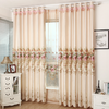 Faux silk with flower embroidery luxury curtain
