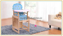baby high chair white wood