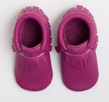 name brand wholesale shoes high quality cow leather Baby moccasins for baby shoe