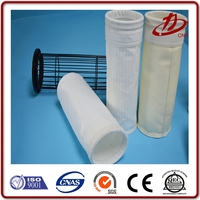 Baghouse polyester aramid dust gas collector filter bag