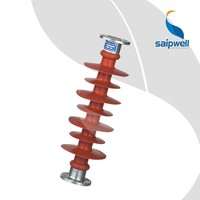 China High Voltage Post Composite Insulator 33kv with Polymer Silicone Rubber Housing