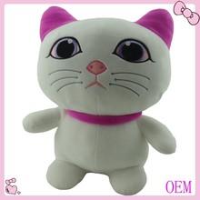 Custom deisgn Plush black and white plush cat toy