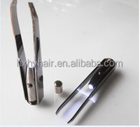 Stainless steel and high qiality eyelash extension eyebrow tweezers