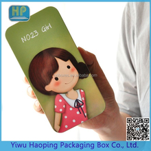 Beautiful Cute Pattern Student Double Layer Ruler/Pen/Pencil/ Eraser Packaging Tin Box