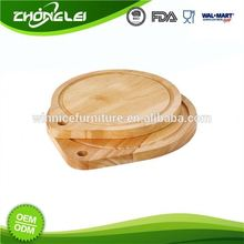 OEM Production Top Quality SEDEX Approved Round Rubber Wood Cutting Board