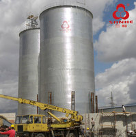 Hot Sale Steel Silo With Cone Hopper For Flour Storage