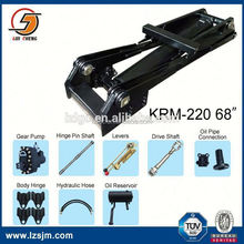 Hoist mechanism system hydraulic ram unit