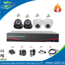 Factory Direct Motion Detect15-30M Night Vision H.264 4CH NVR KIT with ONVIF WPS wifi P2P IR IP Cameras